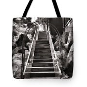 Staircase Leading To A Higher Level In Siloso Hotel In Sentosa Tote Bag