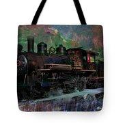 Steam Locomotive Tote Bag by Gunter Nezhoda
