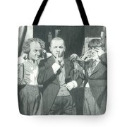 3 Stooges And A Monkey Tote Bag