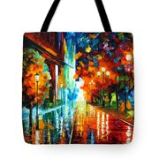 Street Of Hope Tote Bag by Leonid Afremov