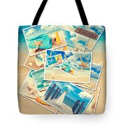 Summer Postcards Tote Bag by Amanda Elwell