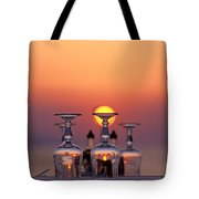 Sunset Behind A Restaurant Tote Bag