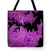 Sydney Street Map - Sydney Australia Road Map Art On Colored Bac Tote Bag