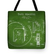 Tape Measure Patent Drawing From 1906 Tote Bag