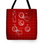 Tennis Ball Patent 1914 - Red Tote Bag