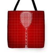 Tennis Racket Patent 1887 - Red Tote Bag