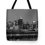 The Empire State Building Pastels Tote Bag