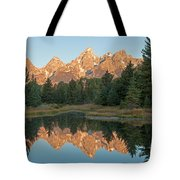 The Grand Tetons Schwabacher Landing Grand Teton National Park Tote Bag