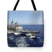 The Guided-missile Cruiser Uss Tote Bag