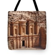 The Monastery At Petra In Jordan Tote Bag
