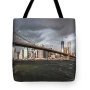 The Storm Over Manhattan Tote Bag