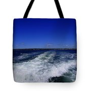 The Wake Of The Island Queen Tote Bag