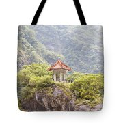 Traditional Pavillion Atop Cliff Tote Bag