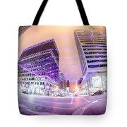 Tulsa City Skyline Around Downtown Streets Tote Bag