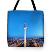 Tv Tower Or Fersehturm In Berlin Tote Bag