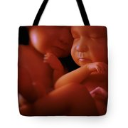 Twin Babies Tote Bag
