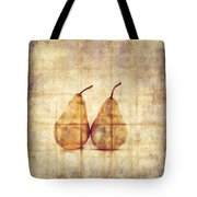 Two Yellow Pears On Folded Linen  Tote Bag