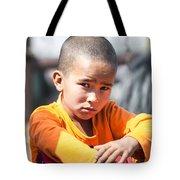 Uighur Child At Kashgar Market Xinjiang China Tote Bag