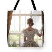 Victorian Woman At A Window Tote Bag