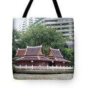 View From Chao Phraya River In Bangkok Tote Bag