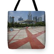 View From Peoples Park, Shanghai Tote Bag
