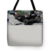 Vintage Cars Tote Bag