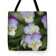 Viola Named Sorbet Lemon Blueberry Swirl Tote Bag by J McCombie