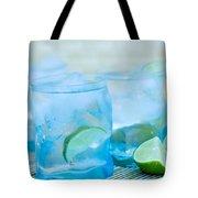 Water In Blue Tote Bag