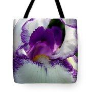 White And Purple Iris 2 Tote Bag