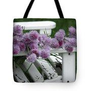 Wild Onion Flowers Tote Bag