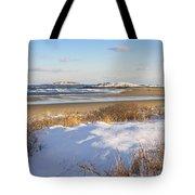 Winter At Popham Beach State Park Maine Tote Bag