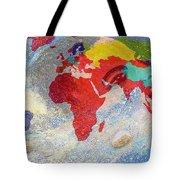World Map And Barack Obama Stars Tote Bag