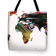 World Map And Human Life Tote Bag
