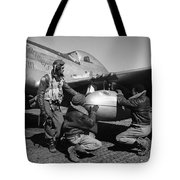 Wwii: Tuskegee Airmen, 1945 Tote Bag by Granger