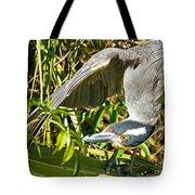 Yellow Crowned Night Heron Tote Bag