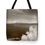 Yellowstone Lake And Geysers Tote Bag