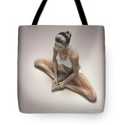 Yoga Bound Angle Pose Tote Bag