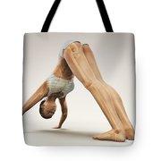 Yoga Downward Facing Dog Pose Tote Bag