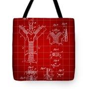 Zipper Patent 1914 - Red Tote Bag