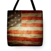 American Flag Rippled Tote Bag