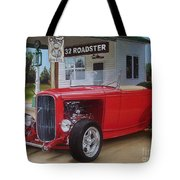 32 Ford At Filling Station Tote Bag