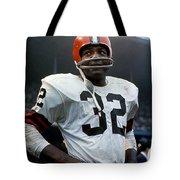 #32 Jim Brown Tote Bag
