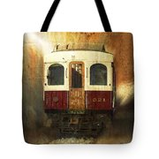 321 Antique Passenger Train Car Textured Tote Bag