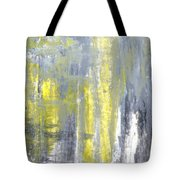 Placed - Grey And Yellow Abstract Art Painting Tote Bag