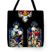 Religious Stained Glass Window Tote Bag