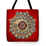 33 Scottish Rite Degrees On Red Leather Tote Bag