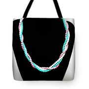 3584 Three Strand Twisted Shell Necklace Tote Bag