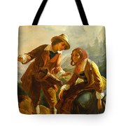 Old Woman With A Muff Second Half 18th Century Tote Bag