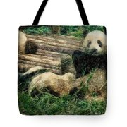 3722-panda -  Colored Photo 2 Tote Bag