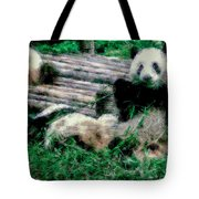 3722-panda -  Pastel Chalk 1 Tote Bag